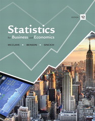 Statistics for Business and Economics 12th Edition 9780321826237 032182623X