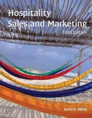 Hospitality Sales and Marketing with Answer Sheet (AHLEI) 5th edition 9780133076936 0133076938