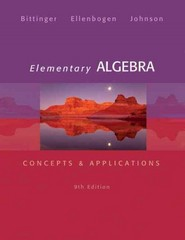 Elementary Algebra 9th Edition 9780321874221 0321874226