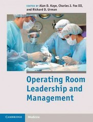 Operating Room Leadership and Management 1st Edition 9781139786430 1139786431