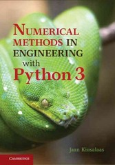 Numerical Methods in Engineering with Python 3 3rd Edition 9781107033856 1107033853