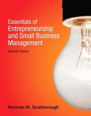 Essentials of Entrepreneurship and Small Business Management 7th edition 9780132666794 0132666790