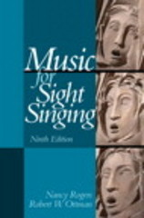 Music for Sight Singing 9th Edition 9780205938339 0205938337