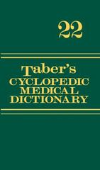 Taber's Cyclopedic Medical Dictionary (Non-thumb-indexed Version) 22nd edition 9780803629783 0803629788