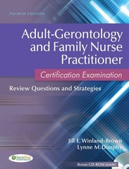 Adult-Gerontology and Family Nurse Practitioner Certification Examination 4th edition 9780803627048 0803627041