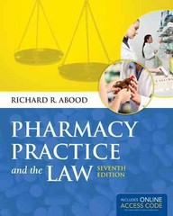 Pharmacy Practice and the Law 7th Edition 9781284021363 128402136X