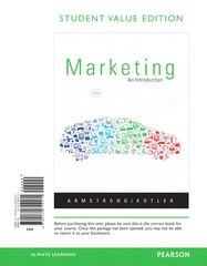 Marketing: An Introduction, Student Value Edition Plus NEW MyMarketingLab with Pearson eText -- Access Card Package 11th edition 9780133033113 0133033112