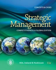 Strategic Management 11th Edition 9781285425184 1285425189