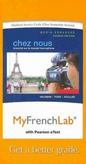 MyFrenchLab with Pearson eText -- Access Card -- for Chez nous 4th Edition 9780205938001 0205938000
