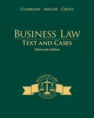 Business Law 13th Edition 9781285185248 1285185242