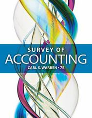 Survey of Accounting 7th Edition 9781285974361 1285974360