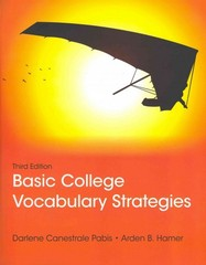 Basic College Vocabulary Strategies 3rd Edition 9780321838933 0321838939