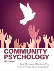 Community Psychology 5th Edition 9780205255627 0205255620