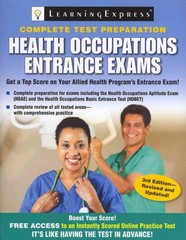 Health Occupations Entrance Exams 3rd Edition 9781576859223 1576859223