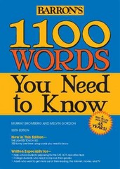 1100 Words You Need to Know 6th Edition 9781438001661 1438001665