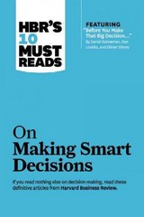 On Making Smart Decisions 1st Edition 9781422189894 1422189899