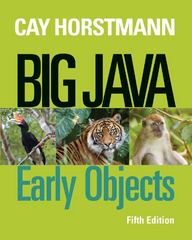 Big Java 5th Edition 9781118476635 1118476638