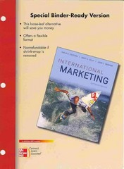 Loose-Leaf International Marketing 16th edition 9780077642297 0077642295