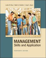 Management 14th Edition 9780078029110 0078029112
