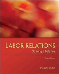 Labor Relations 4th Edition 9780078029431 0078029430