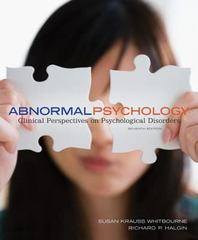 Abnormal Psychology 7th Edition 9780078035272 0078035279