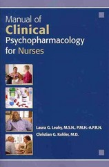 Manual of Clinical Psychopharmacology for Nurses 1st Edition 9781585624348 1585624349