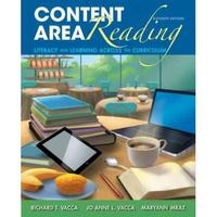 Content Area Reading 11th Edition 9780133066784 0133066789