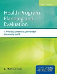 Health Program Planning and Evaluation 3rd Edition 9781284021042 1284021041
