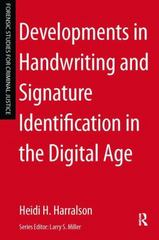 Developments in Handwriting and Signature Identification in the Digital Age 1st Edition 9781317522881 1317522885