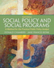 Social Policy and Social Programs 6th Edition 9780205052769 0205052762