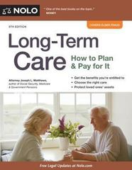 Long-Term Care 10th Edition 9781413320701 1413320708