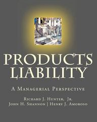 Products Liability 1st Edition 9781478393702 147839370X