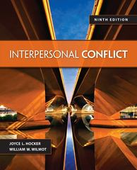 Interpersonal Conflict 9th Edition 9780078036934 0078036933