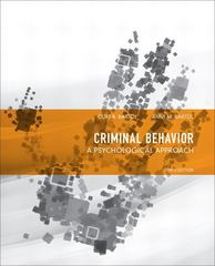 Criminal Behavior 10th Edition 9780132973199 0132973197