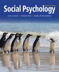 Social Psychology 9th Edition 9781133957751 1133957757