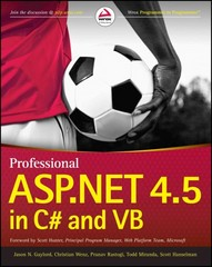 Professional ASP.NET 4.5 in C# and VB 1st Edition 9781118311820 1118311825