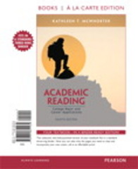 Academic Reading, Books a la Carte Edition 8th Edition 9780321851239 0321851234