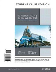 Operations Management, Student Value Edition 11th Edition 9780132863308 0132863308