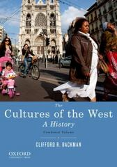 The Cultures of the West 1st Edition 9780195388893 0195388895