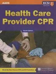 Health Care Provider CPR 4th Edition 9781449678272 1449678270