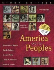 America and Its Peoples 5th edition 9780321419972 0321419979