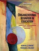 Organizational Behavior in Education: Adaptive Leadership and School Reform 9th edition 9780205486366 0205486363
