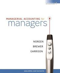 Managerial Accounting for Managers 1st edition 9780073526973 0073526975