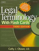 Legal Terminology with Flashcards 3rd edition 9781418039806 1418039802