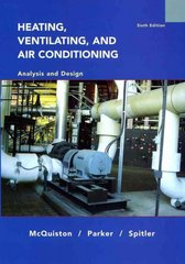 Heating, Ventilating and Air Conditioning 6th edition 9780471470151 0471470155