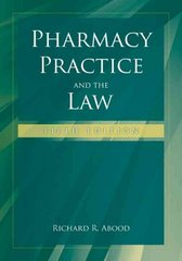 Pharmacy Practice And The Law 5th Edition 9780763749781 0763749788