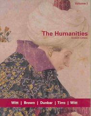 The Humanities, Volume I 7th edition 9780618417766 0618417761