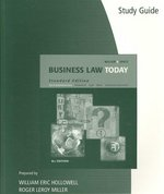 Study Guide for Miller/Jentz's Business Law Today, Standard Edition, 8th 8th edition 9780324654592 0324654596