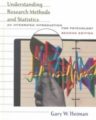 Understanding Research Methods and Statistics 2nd edition 9780618043040 0618043047