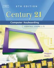 "Century 21â""¢ Computer Keyboarding 8th edition 9780538439596 0538439599"